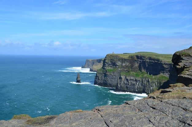 Magnifique paysage des falaises de moher en irlande