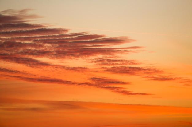Magnifique texture de ciel coucher de soleil