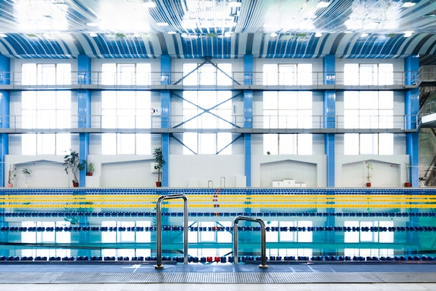 Magnifique vue piscine moderne