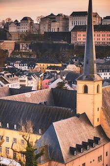 Magnifique vue sur la vieille ville de luxembourg