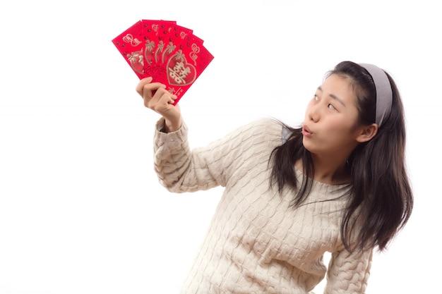 Magnifiques gens de poche femme asiatique
