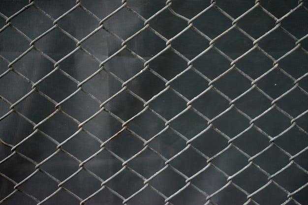 Maille d'acier inoxydable avec la rouille. contexte.