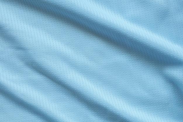 Maillot de football bleu vêtements tissu texture sports wear background
