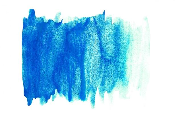 Main aquarelle abstraite peinture sur fond blanc. fond d'aquarelle