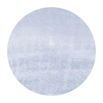 Main bleu foncé dessiné texture d'arrière-plan aquarelle cadre circulaire avec des taches