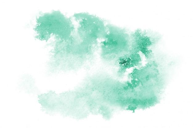 Main dessiné forme aquarelle bleu clair