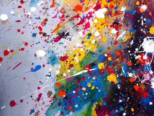 Main dessiner abstrait aquarelle coloré et texturé