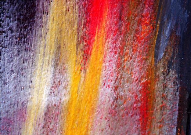 Main dessiner abstrait aquarelle coloré avec texture