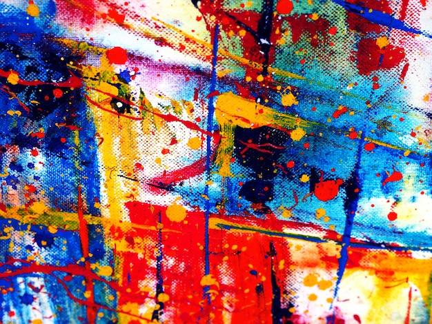 Main dessiner abstrait aquarelle coloré avec texture.