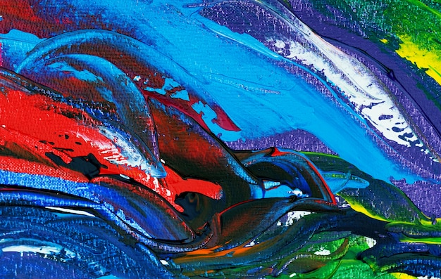 Main dessiner abstrait peinture coloré avec texture.