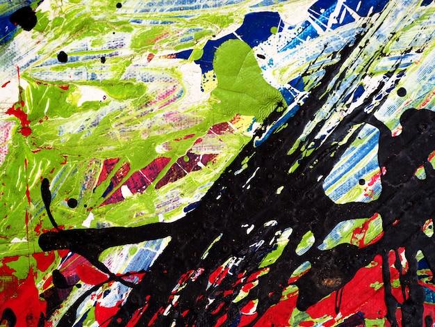 Main dessiner abstrait peinture à l'huile colorée et texturé