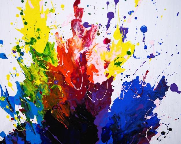 Main dessiner abstrait peinture à l'huile colorée