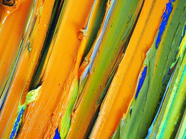 Main dessiner peinture à l'huile colorée multi couleurs abstrait et la texture.