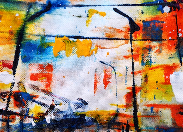 Main dessiner texture abstraite de peinture aquarelle colorée