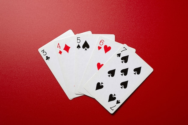 Main droite de poker