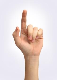 La main de l'homme montre un symbole