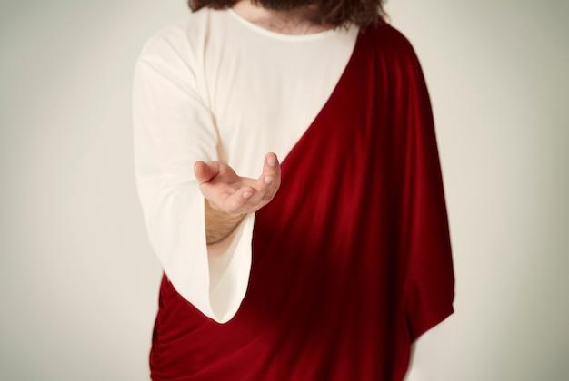 La main de jésus-christ s'étendant vers tout le monde