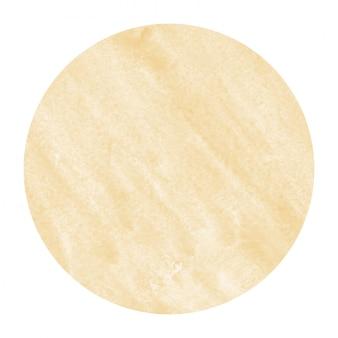 Main orange clair dessiné texture d'arrière-plan aquarelle cadre circulaire avec des taches