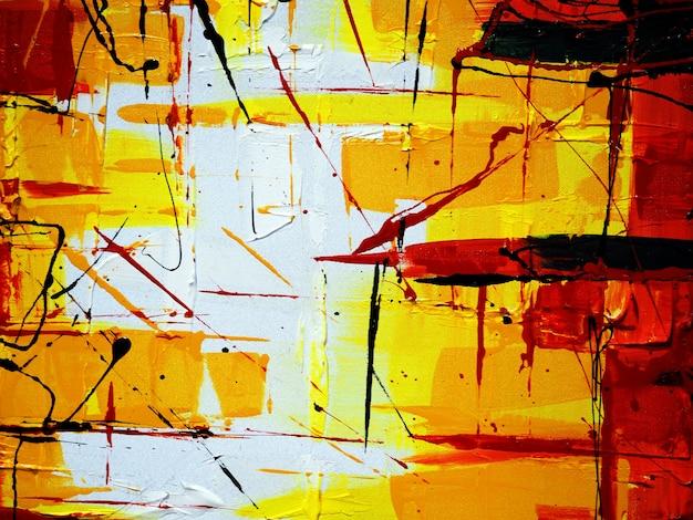 Main de peinture à l'huile colorée dessiner abstrait.