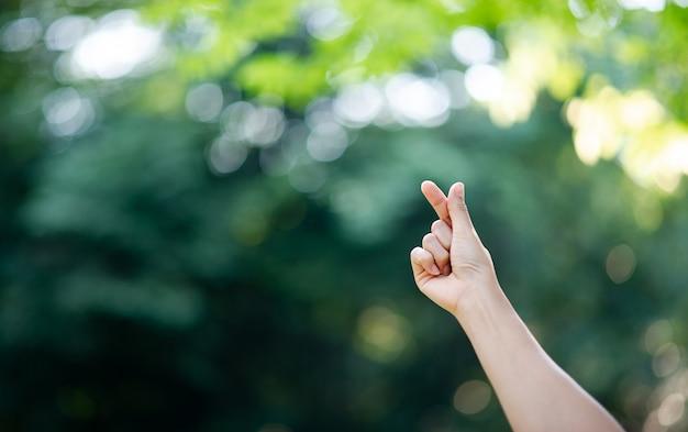 La main qui exprime l'amour pur
