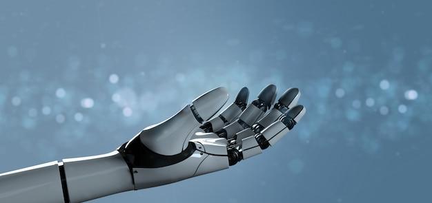 Main de robot cyborg - rendu 3d