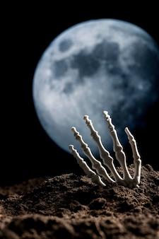 Main squelette effrayante du sol