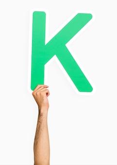 Main tenant la lettre k