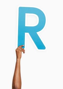 Main tenant la lettre r