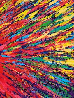Main à la texture colorée dessiné peinture à l'huile