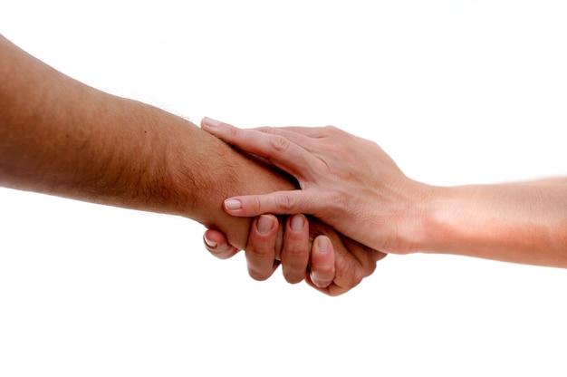 Les mains avec geste de félicitations
