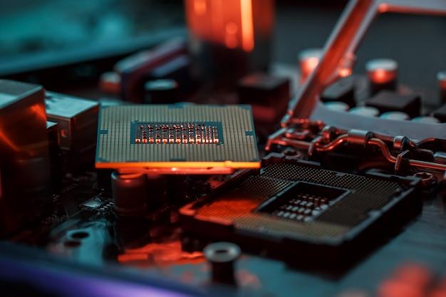 Maintenance de l'ordinateur mise à niveau matérielle du composant de la carte mère