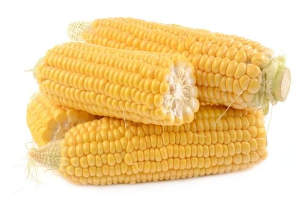 Maïs sur blanc
