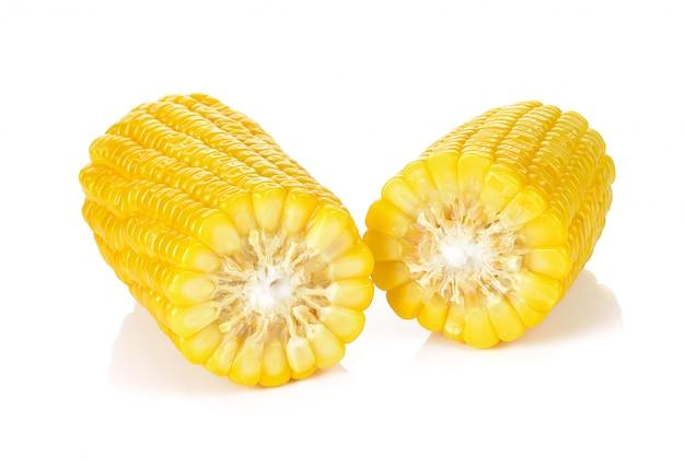 Maïs isolé sur fond blanc