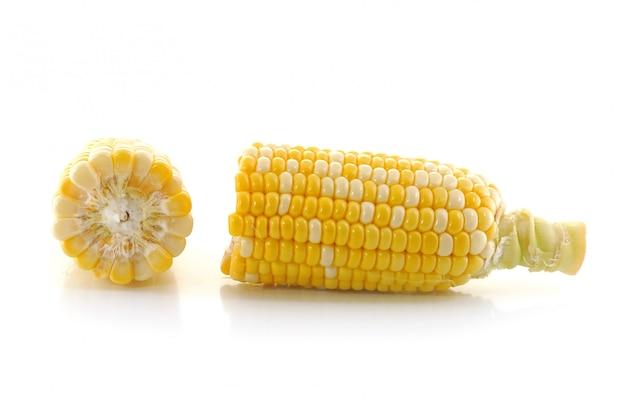 Maïs sur un mur blanc