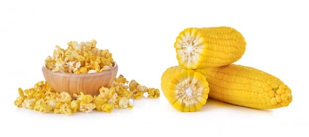 Maïs et pop corn isolés