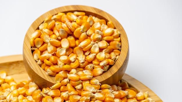 Maïs soufflé et graines de maïs