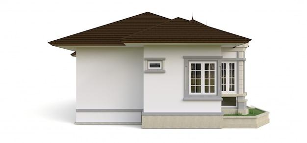 Maison ancienne de style victorien. illustration sur espace blanc. espèces de différents côtés. rendu 3d.