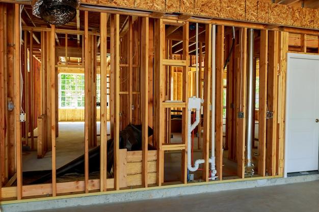 Maison ou bâtiment à ossature de bois non fini