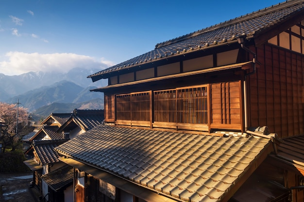Maison en bois magome, vallée de kiso