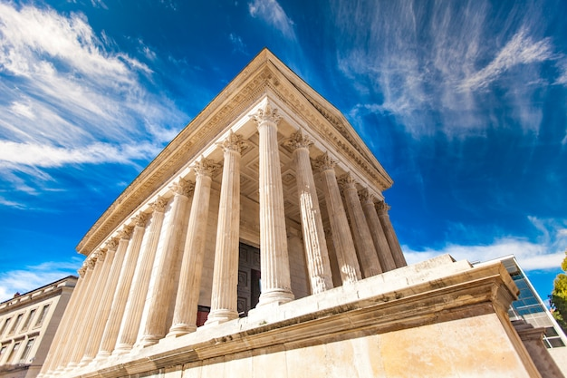 Maison carrée, temple romain de nîmes, france