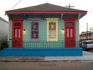 Maison colorée à la nouvelle orléans