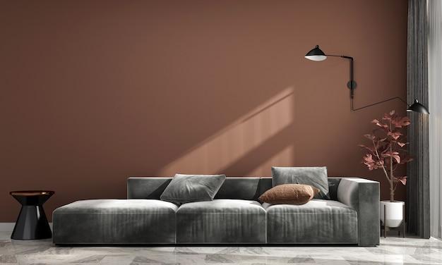 Maison et décoration confortables modernes et design d'intérieur de salon et fond de mur pastel