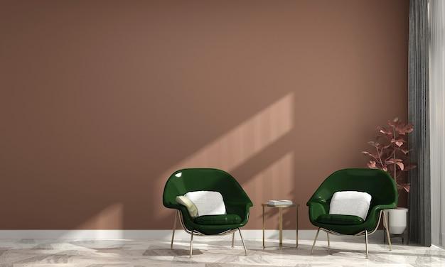 Maison et décoration minimales et design d'intérieur de salon et fond de mur vide