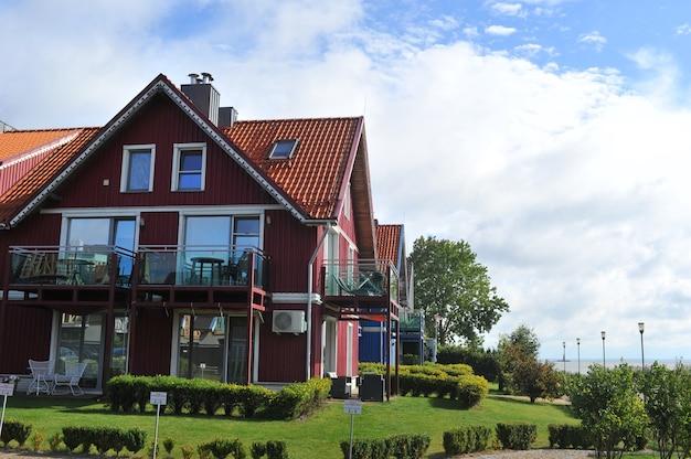 Maison d'été thomas mann, ancienne maison en bois traditionnelle lituanienne à nida