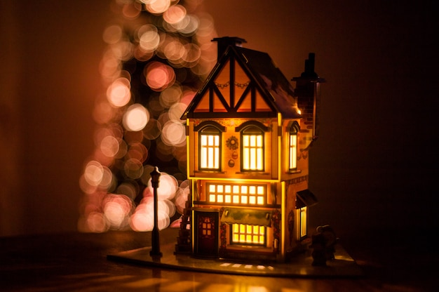 Maison d'hiver en carton