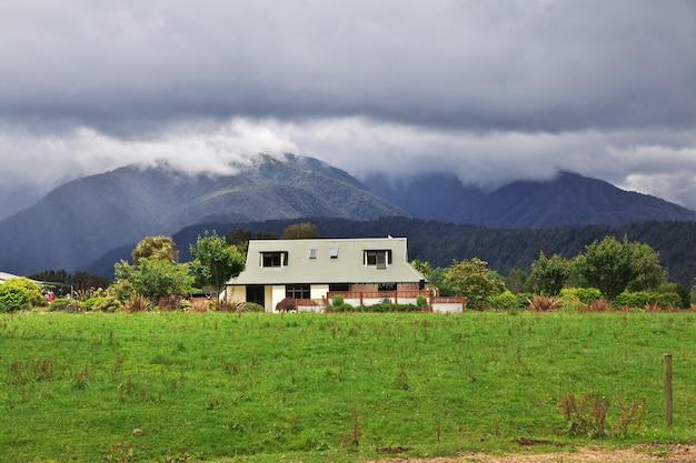 Maison sur l'île du sud, nouvelle zélande