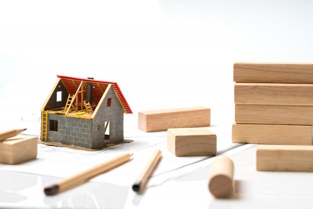 Maison et lotissement avec blueprint