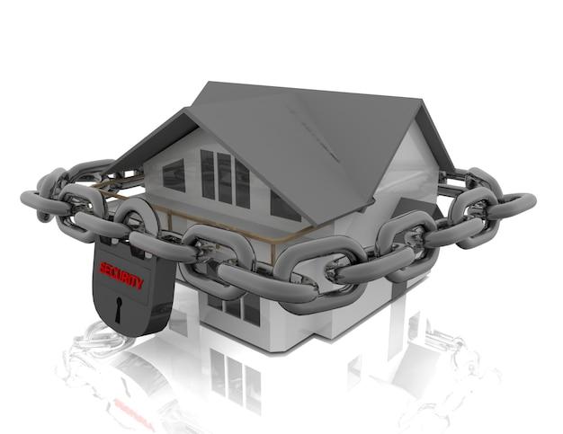 Maison sécurisée avec cadenas
