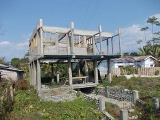 Maison sous terre de la construction