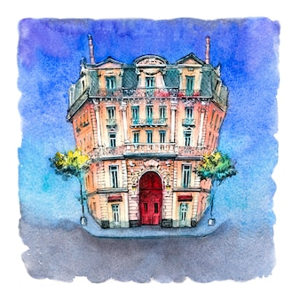 Maison typique de marseille, france